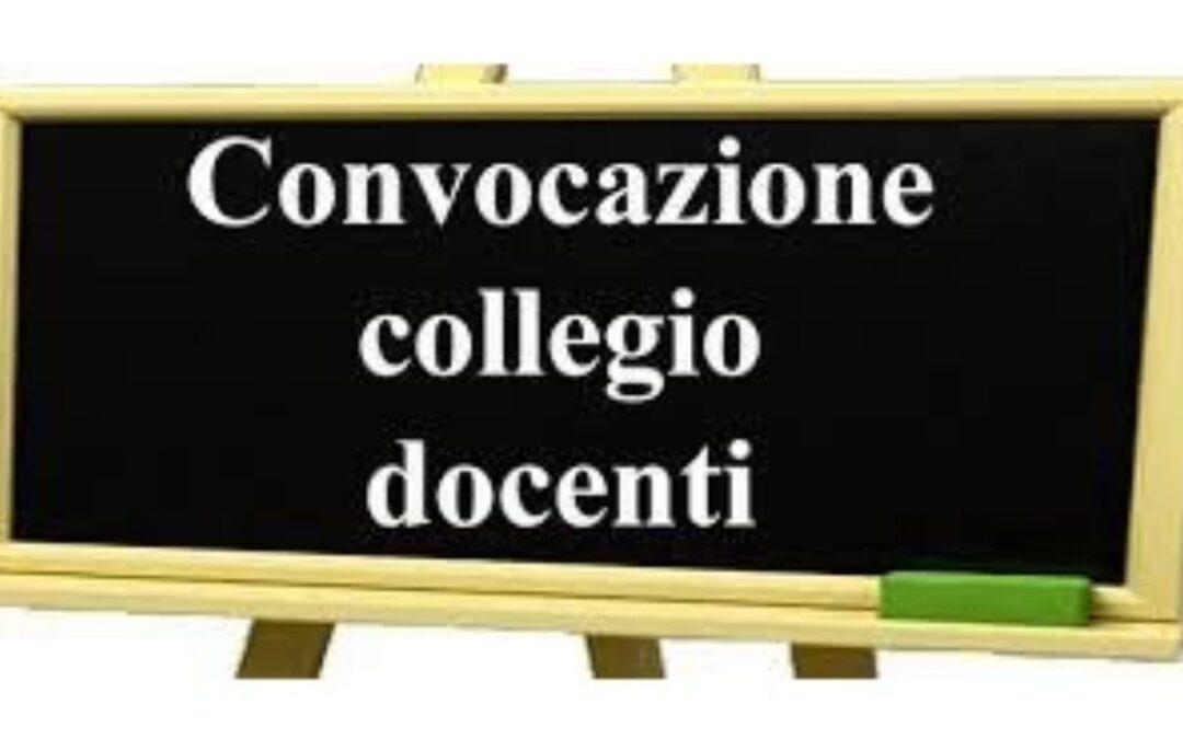 Convocazione Collegio Docenti Plenario